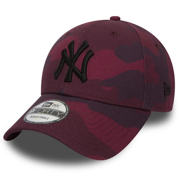 Šiltovka New Era 9Forty MLB Camo NY Yankees Maroon - UNI