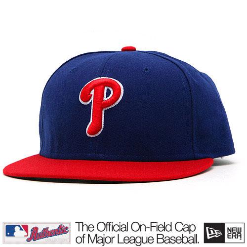 New Era Authentic Philadelphia Phillies Home Alternate Cap Red Blue - 6 7/8