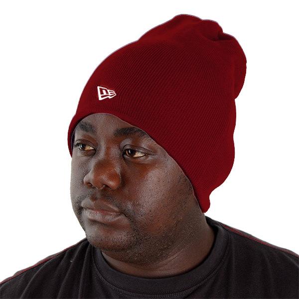 New Era Basic Long Knitt Beanie Maroon - UNI