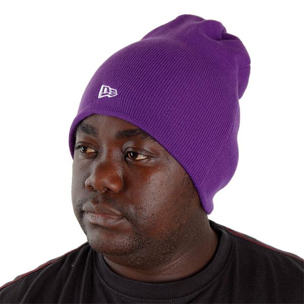 New Era Basic Long Knitt Beanie Purple - UNI