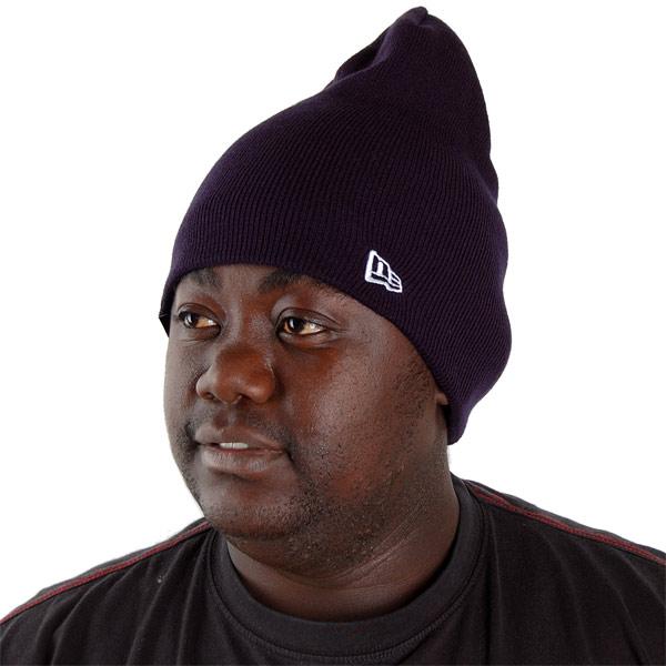 Zimná čapica New Era Essential Long Knit Cuff NE Black - UNI