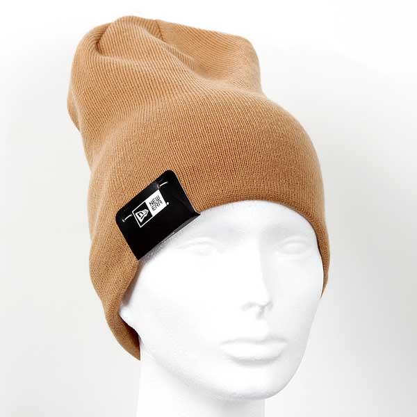 Zimná čapica New Era MLB Esential Long Cuff NE Knit Brown - UNI
