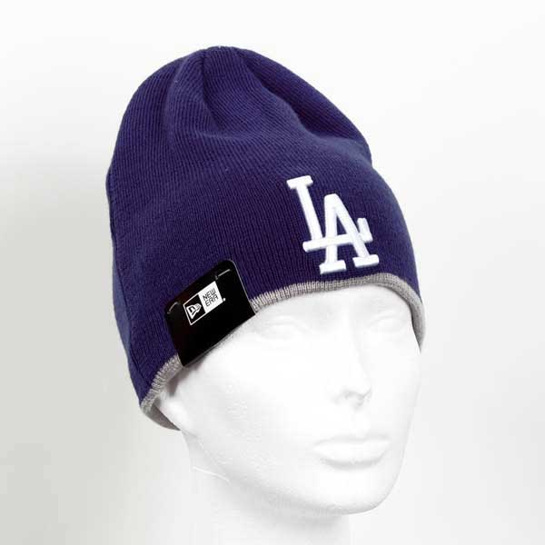 Zimná čapica New Era MLB Team Skull knit LA Dodgers Navy - UNI