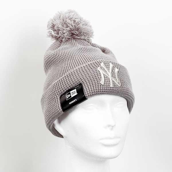 Dámska čapica New Era MLB WMNS Bobble Cuff Knit NY Yankees Grey - UNI