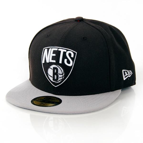 New Era NBA Basic Brooklyn Nets Game Cap Black Grey - 7 1/8