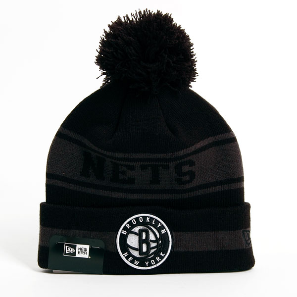 Zimná čapica New Era NBA Team JAke Cuff Brooklyn Nets Knit Black - UNI