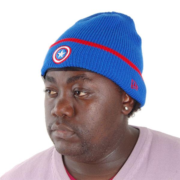 New Era Pop Cuff Knit Captain America Official Cap - UNI