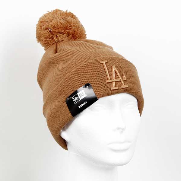 Zimná čapica New Era Womens MLB Leafgue Essential Bobble Cuff Knit Brown - UNI