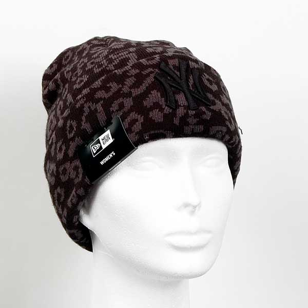 Zimná čapica New Era Womens MLB Leopard Cuff Knit Black - UNI