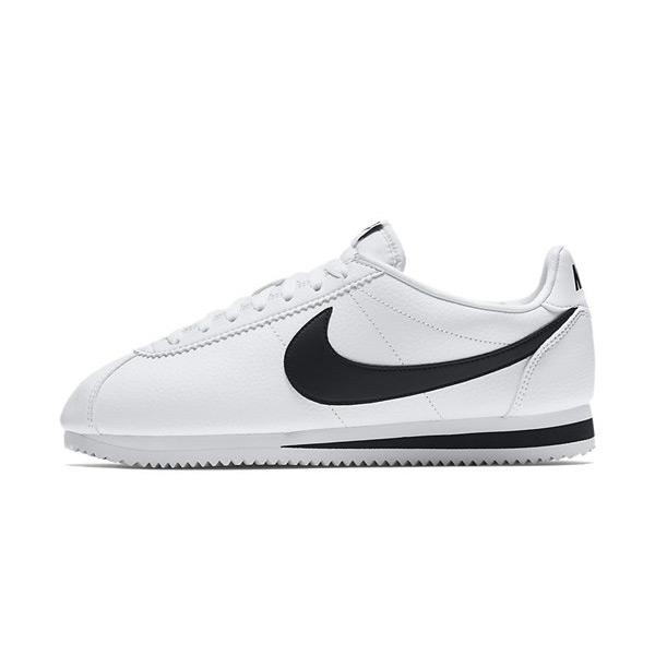 Nike Classic Cortez Leather White Black 749571-100 - 40.5 - 7.5 - 6.5 - 25.5 cm