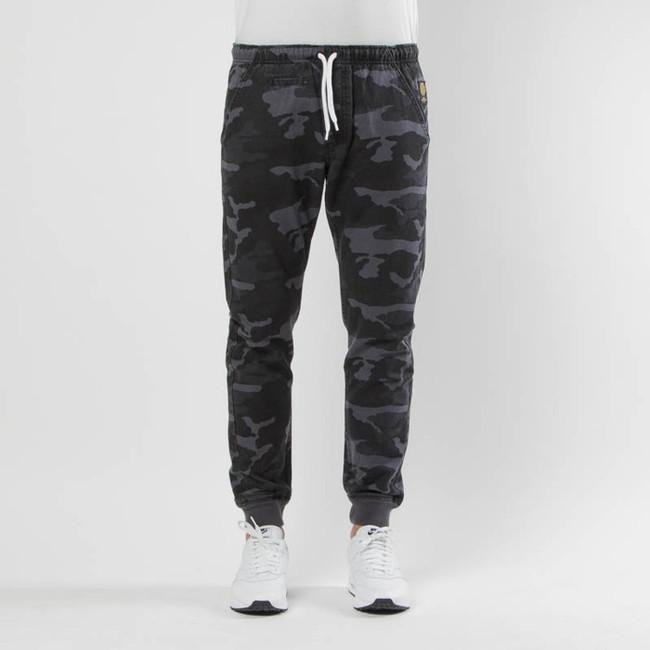 Pants Mass Denim Classics Joggers Sneaker Fit black camo - W 36