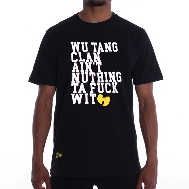Pánske Tričko Pelle Pelle Wu-Tang Nuthing Ta Fuck Wit Tee Black