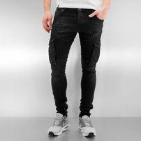 2Y Cargo Skinny Jeans Black