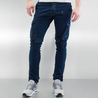 2Y Velcro Closure Cargo Pants Blue