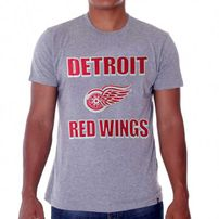 47 Brand Frozen Rope Tee Grey Detroit Red Wings