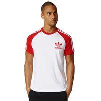 Adidas CLFN Tee White Vivid Red AZ8130