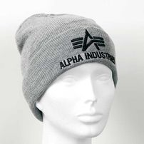 Alpha Industries 3D Beanie Grey