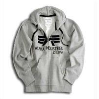 Alpha Industries Big A Classic Zip Hoody Grey