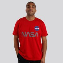 Pánske tričko alpha industries NASA Reflective T-Shirt Red