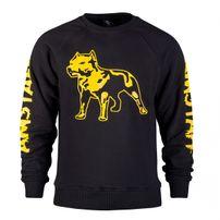 Amstaff Logo Sweater Black Yellow