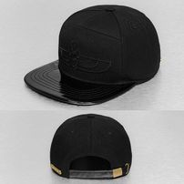 Bangastic PU Visor Snapback Cap Black