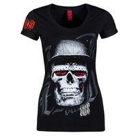 Blood In Blood Out Blood Skull Hat Black D-Shirt