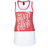 Blood In Blood Out Logo Woman Tanktop White Red