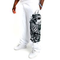 Bsat Praying Scull Sweatpants White