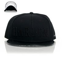 Cayler & Sons Black Label Harlem Snapback Black White