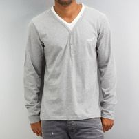 Clang Kianu Longsleeve Grey Melange/Bright White