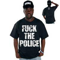 Cocaine Life Fuck The Police Tričko Čierne
