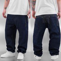 Dangerous DNGRS Logo Baggy Jeans Rinse Indigo