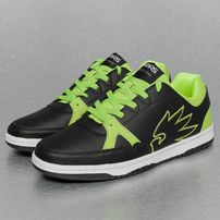 Dangerous DNGRS Logo Sneakers Black/Lime Green