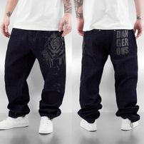 Dangerous DNGRS Rose Baggy Jeans Rinse Indigo