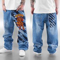 Dangerous DNGRS Tiger Baggy Jeans Rinse Indigo