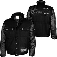 Hood Star Wool Padding Winterjacket Black