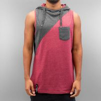 Just Rhyse David Hooded Tank Top Burgundy
