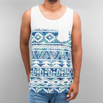 Just Rhyse Diamond Tank Top White/Blue