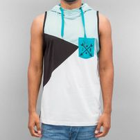 Just Rhyse Hooded Tank Top Turquoise/Black/White