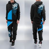 Just Rhyse Logo Sweat Suit Black/Blue