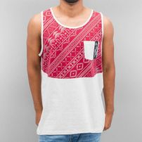 Just Rhyse Pattern Tank Top Burgundy/Grey