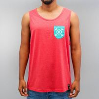 Just Rhyse Summer Tank Top Light Red Melange