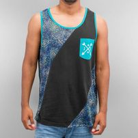 Just Rhyse Transverse Tank Top Black/Turquoise
