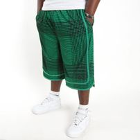 K1X Fade Check Reversible Shorts Black Boston Green