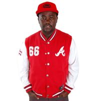 Majestic Athletics Northover Atlanta Braves Fleece Jacket Red