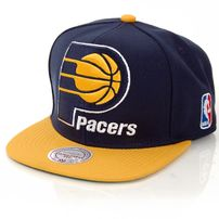Mitchell & Ness XL Logo Indian Pacers 2 Tone Snapback