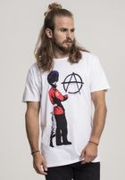 Mr. Tee Banksy Anarchy Tee white
