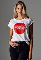 Mr. Tee Ladies Coca Cola Round Logo Tee white