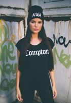 Mr. Tee Ladies Compton Tee black