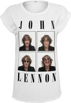 Mr. Tee Ladies John Lennon Pictures Tee white